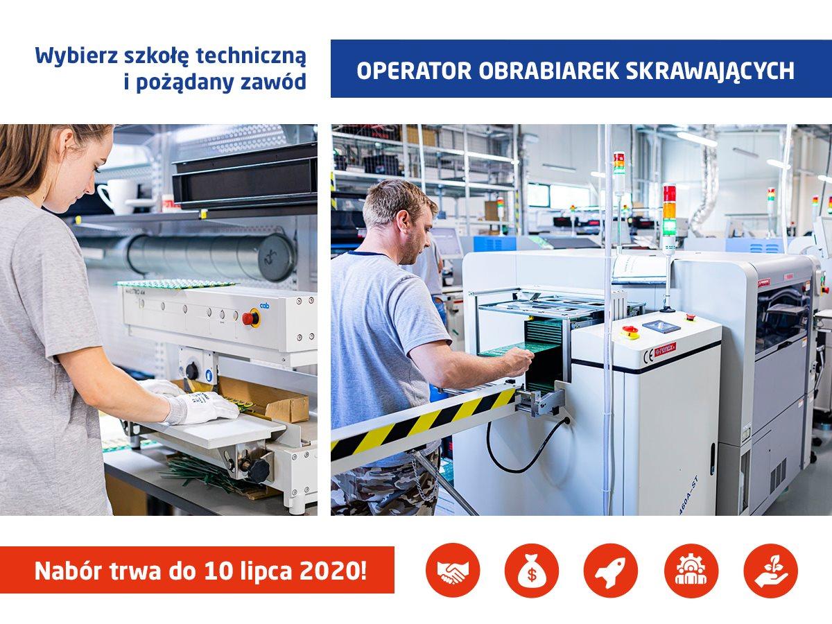 Rekrutacja 2020 na kierunek OPERATOR OBRABIAREK SKRAWAJĄCYCH (CNC)